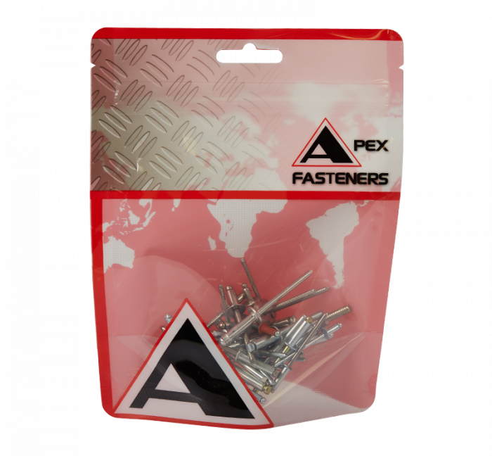 Apex Rivet - Aluminium / Steel 4.8x11.4mm Terrain AS-6-4-TR-HP 100 Pack