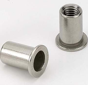 Apex Rivet Nut All Stainless Steel 304 Large Flange M3x5.0x10.5mm NStLM3-HP 100 Pack