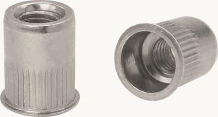 Apex Rivet Nut Steel Thin Head Ribbed Body M5x7.0x12.8mm NSRTM5-HP 100 Pack