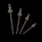 """Apex Rivet All Steel 3/32"""" (2.4mm) Dome Head Rivet SS-3"""